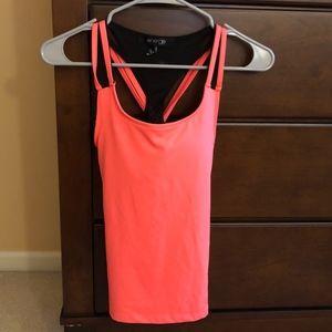 neon pink/orange athletic tank top